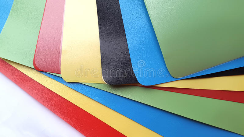 Sheets of colored plastic geometry royalty free stock image