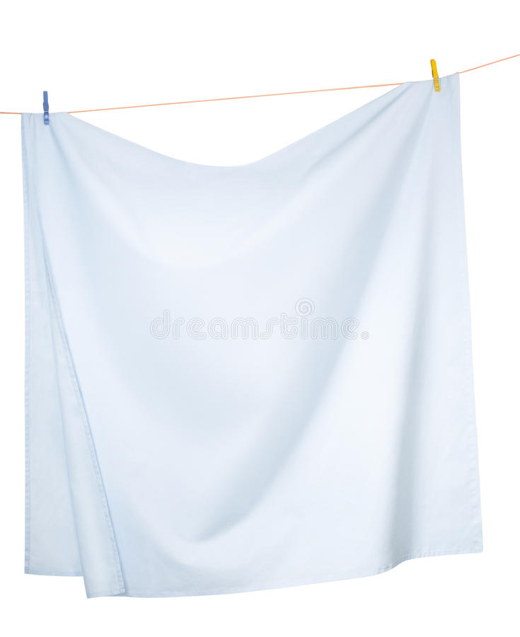 Free Sheets Hanging On A Rope Stock Image - 22473031