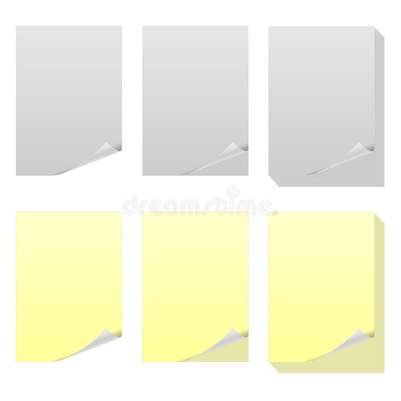 Sheets of paper stock photos