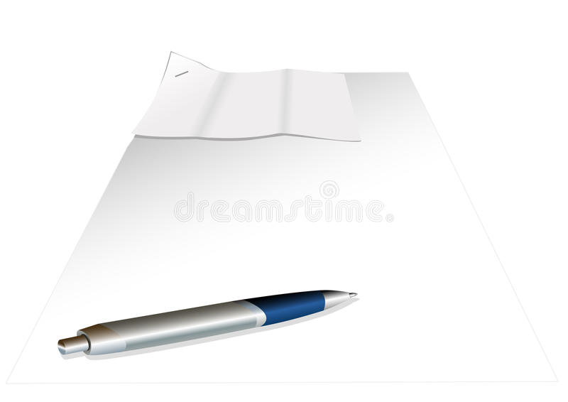 Download Sheets of paper and pen stock vector. Illustration of illustration - 18184262