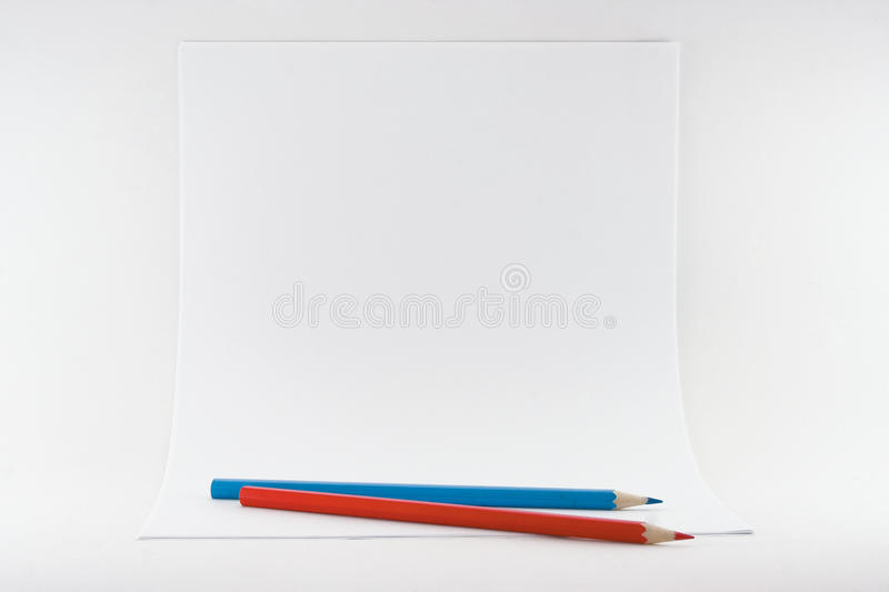 Download Sheets Of Paper With Pencils Royalty Free Stock Photography - Image: 13244227