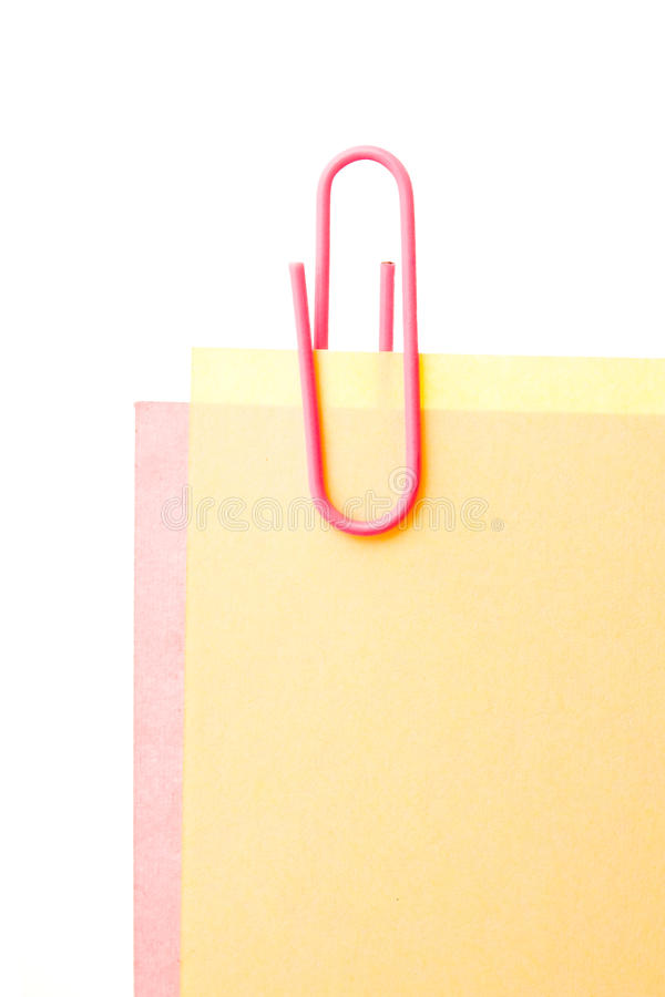 Download Sheets Of Stapled Paper Clips Stock Photo - Image: 17053432