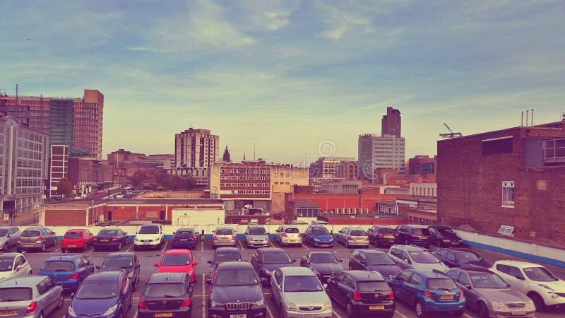 Sheffield Atkinson parkeringshus heden arkivbild