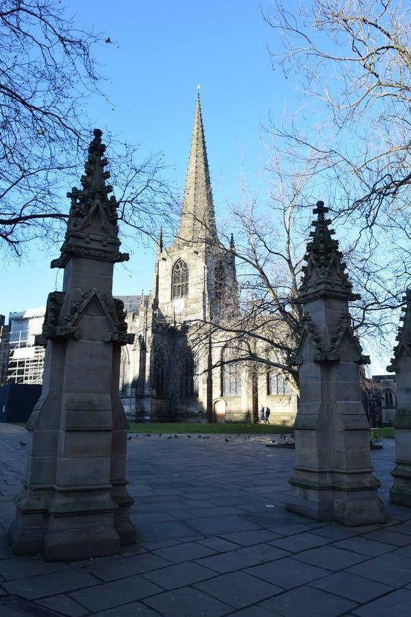 Sheffield Cathedral, Sheffield, Großbritannien lizenzfreies stockfoto