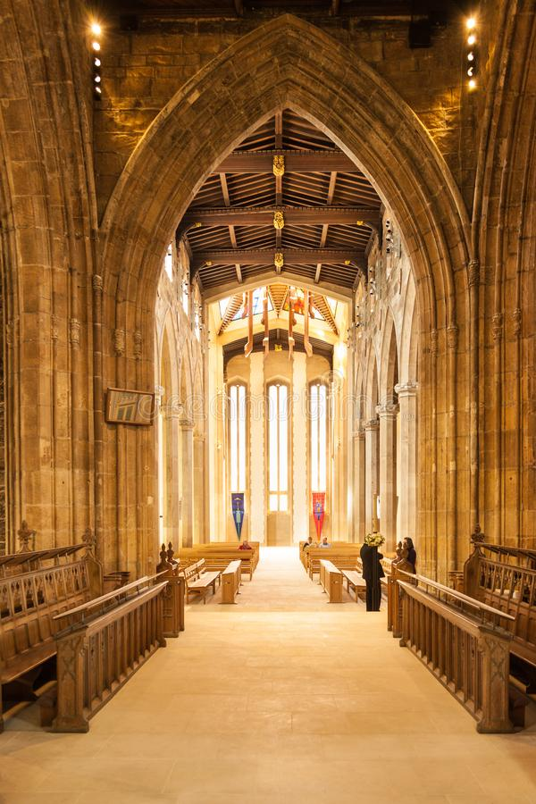 Free Sheffield Cathedral Looking Through The Aisle Royalty Free Stock Photos - 155225358