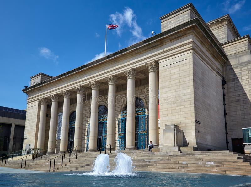 Sheffield City Hall sheffield engeland royalty-vrije stock foto's