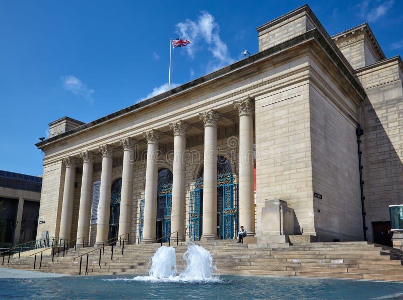 Sheffield City Hall sheffield england lizenzfreie stockfotos
