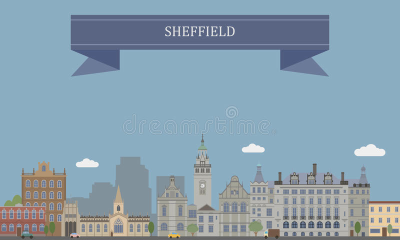 Sheffield, Engeland stock illustratie