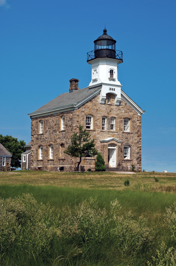 Sheffield Island Lighthouse a Norwalk, Connecticut immagine stock
