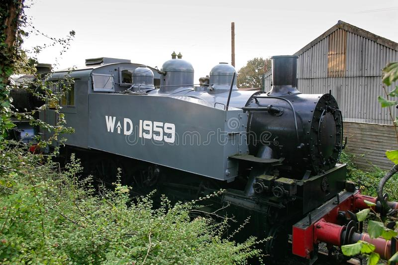 SHEFFIELD PARK EAST SUSSEX/UK - OCTOBER 26 : United States Army. Transportation Corps S100 Class steam locomotive originally purchased and adapted by the stock photography