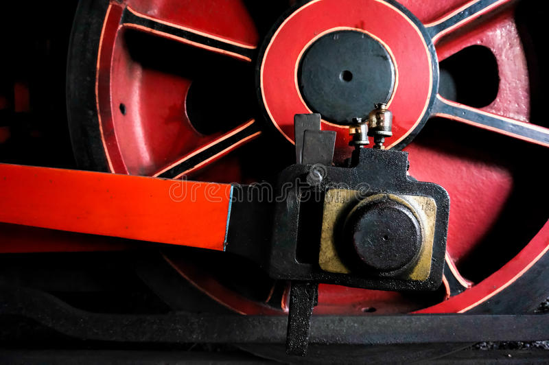 SHEFFIELD PARK, EAST SUSSEX/UK - SEPTEMBER 8 : Close-Up view of. An Old Steam Train Wheel at Sheffield Park station East Sussex on September 8, 2013 stock photography