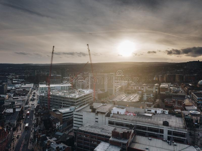 Sheffield-Stadt stockfotografie