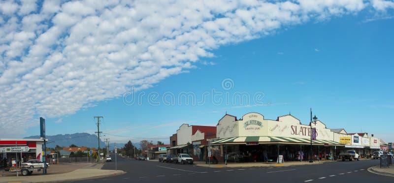 Sheffield, Tasmanien - die Stadt von Wandgemälden stockfoto