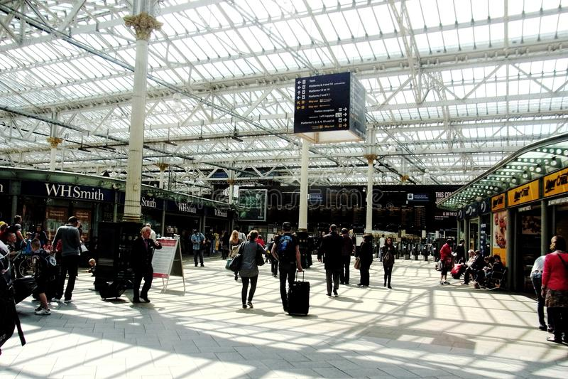 Sheffield Train Station England fotos de stock