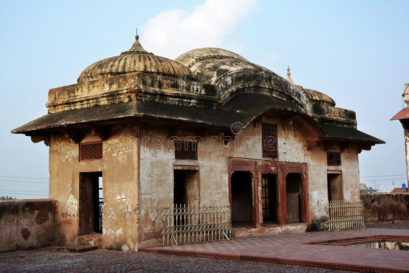 Sheh Dara i Jahangirs fyrkant - Lahore fort arkivbilder
