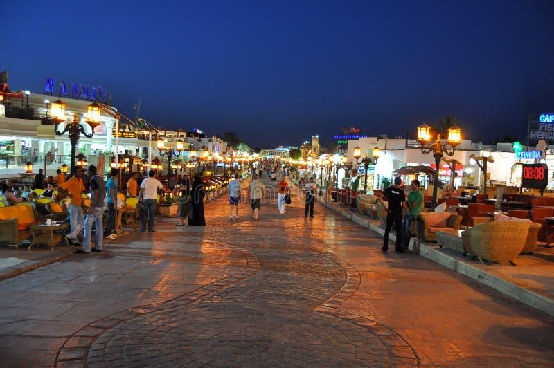 Sheik de passeio do EL de Sharm da rua fotografia de stock