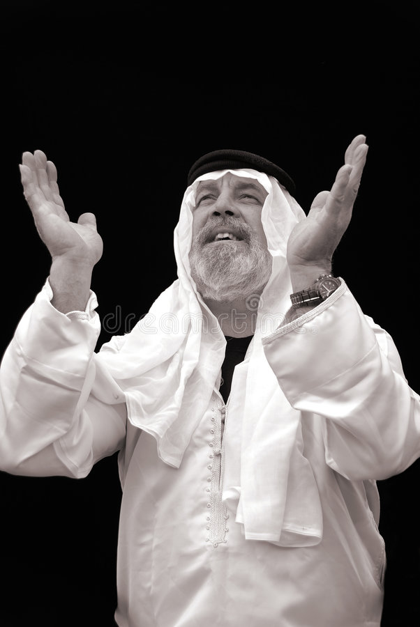Download The Sheik Praying stock image. Image of boss, cheer, disciplinarian - 2109365