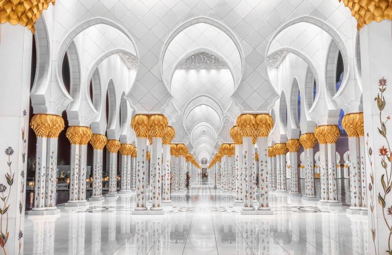 Sheik Zayed meczet fotografia stock