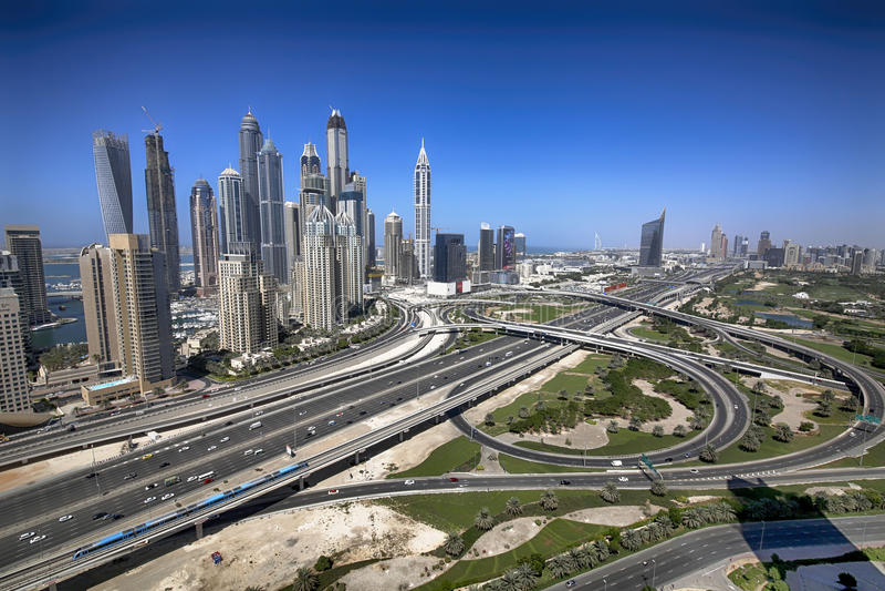 Sheikh γεφυρών No5 δρόμος Zayed στοκ εικόνα