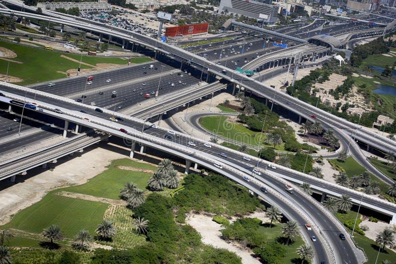 Sheikh γεφυρών No5 δρόμος Zayed στοκ φωτογραφία με δικαίωμα ελεύθερης χρήσης