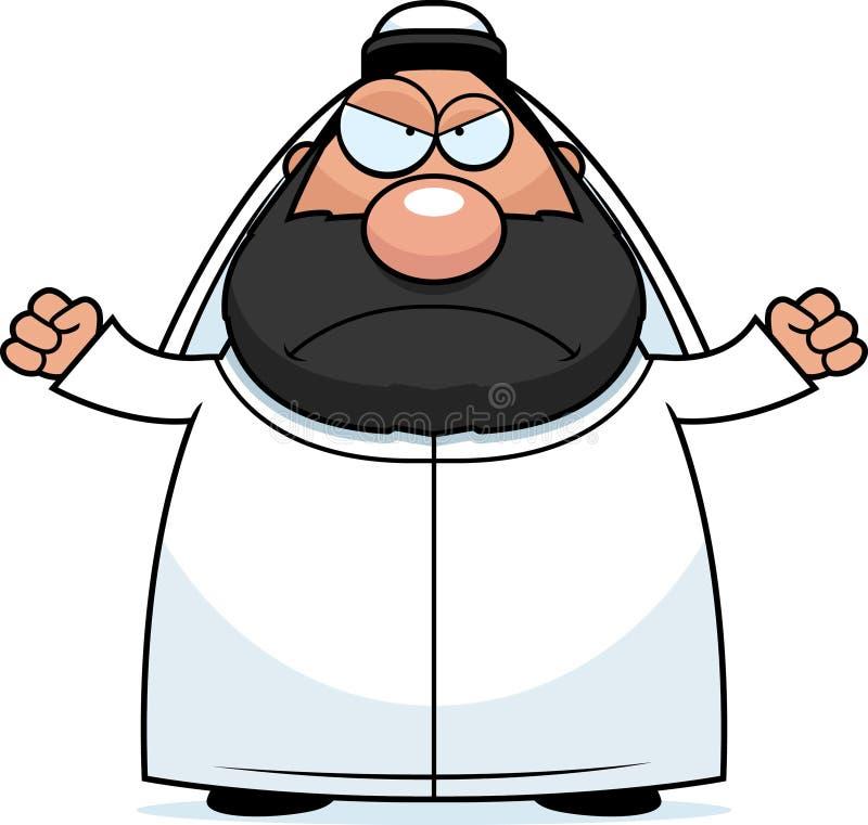 Sheikh κινούμενων σχεδίων ελεύθερη απεικόνιση δικαιώματος