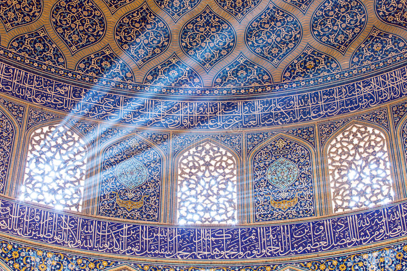 Sheikh μουσουλμανικό τέμενος Lotfollah στο τετράγωνο naqhsh-ε Jahan στο Ισφαχάν, Ιράν στοκ εικόνα