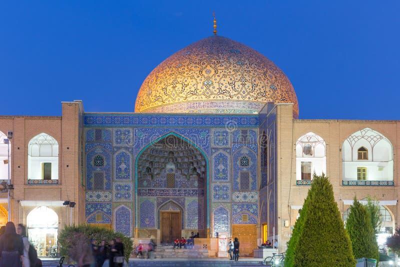 Sheikh μουσουλμανικό τέμενος Lotfollah στο τετράγωνο naqsh-ε Jahan στο Ισφαχάν, Ιράν στοκ εικόνες
