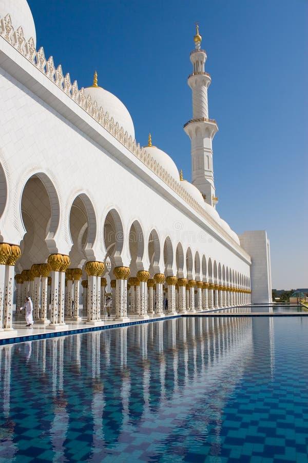 Sheikh μουσουλμανικό τέμενος Zayed, Αμπού Ντάμπι, Ηνωμένα Αραβικά Εμιράτα στοκ εικόνες με δικαίωμα ελεύθερης χρήσης