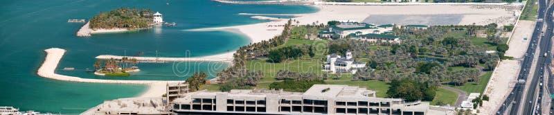 sheikh för rashid för strandfackmohammed slott royaltyfria foton