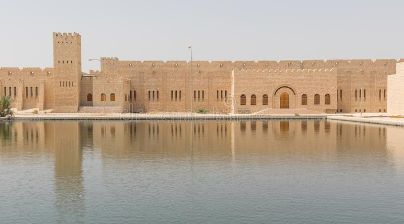 The Sheikh Faisal Bin Qassim Al Thani Museum, Doha. Qatar. Doha, Qatar - encompassing an area of 530,000 m², consisting of three buildings and 15 halls, the royalty free stock photography