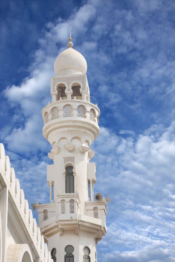 Sheikh Isa Bin Ali Mosque Minaret Closeview Royalty Free Stock Photography