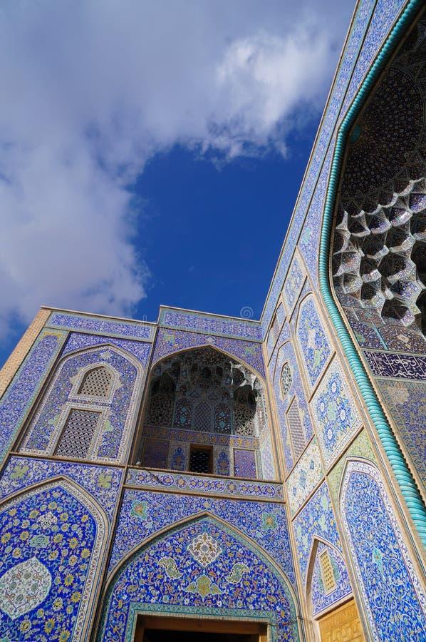 Sheikh Lotf Allah Moské på den Naghsh-i Jahan fyrkanten, Isfahan, Iran arkivfoton