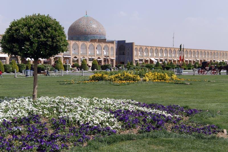 Sheikh Lotf Allah Mosque på den Naqsh-e Jahan fyrkanten arkivbilder
