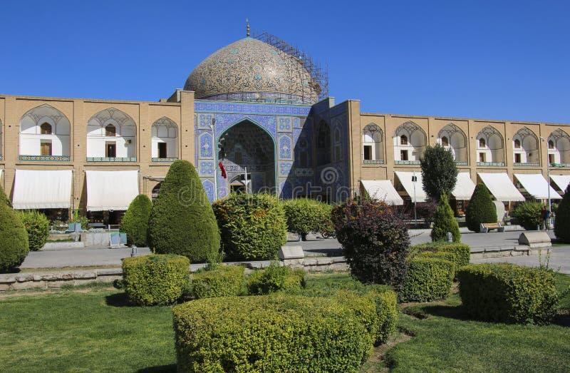 Sheikh Lotfollah Mosque no quadrado de Naqsh-e Jahan em Isfahan, Irã foto de stock