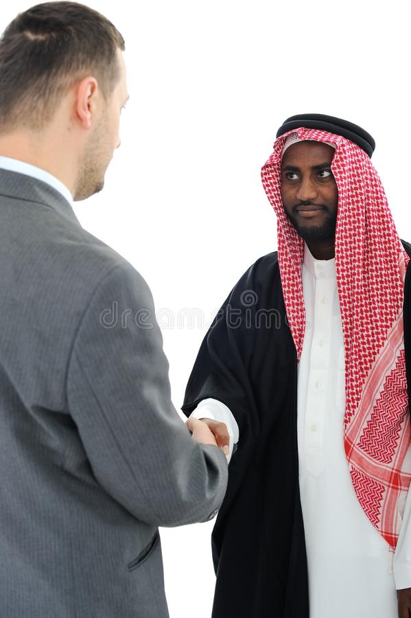Download Sheikh Making A Deal With Caucasian Stock Photo - Image: 24916912