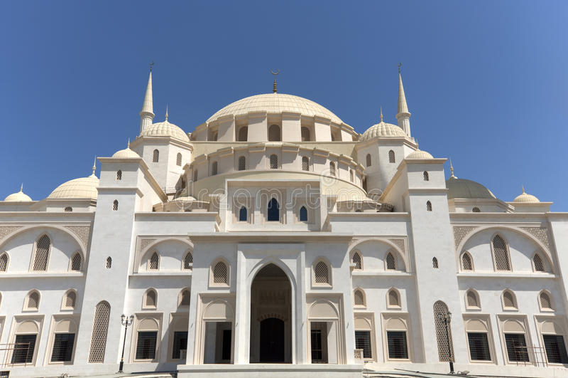 Sheikh Zajed Mosque i Fujairah arkivfoton