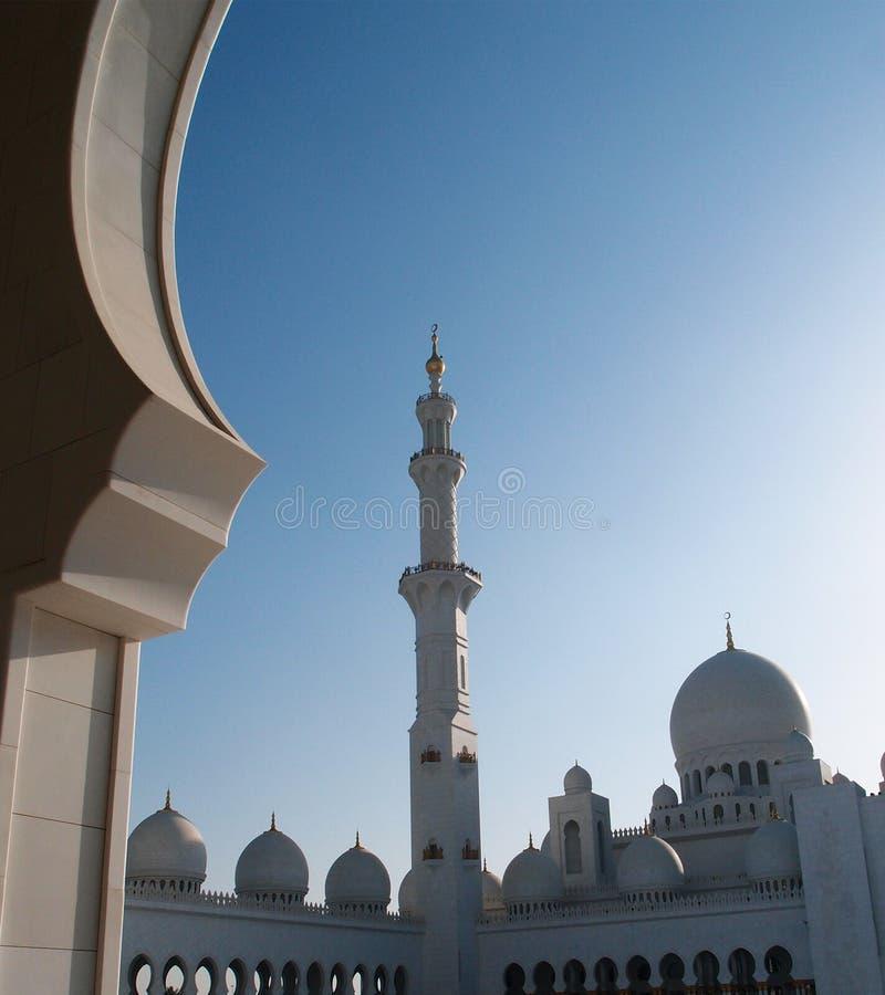 Sheikh Zayed, μεγάλο μουσουλμανικό τέμενος, Αμπού Ντάμπι στοκ εικόνα με δικαίωμα ελεύθερης χρήσης