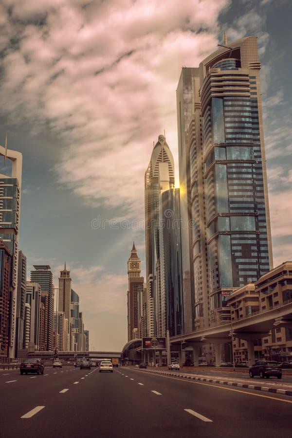 Sheikh Zayed droga Duabi obraz royalty free