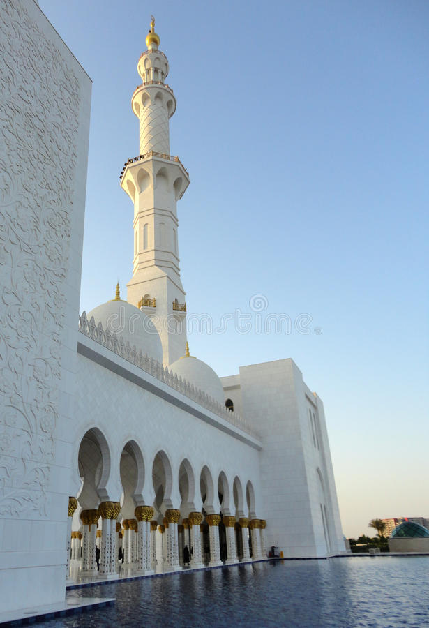Sheikh Zayed Grand Mosque. Is located in Abu Dhabi, the capital city of the United Arab Emirates royalty free stock photos