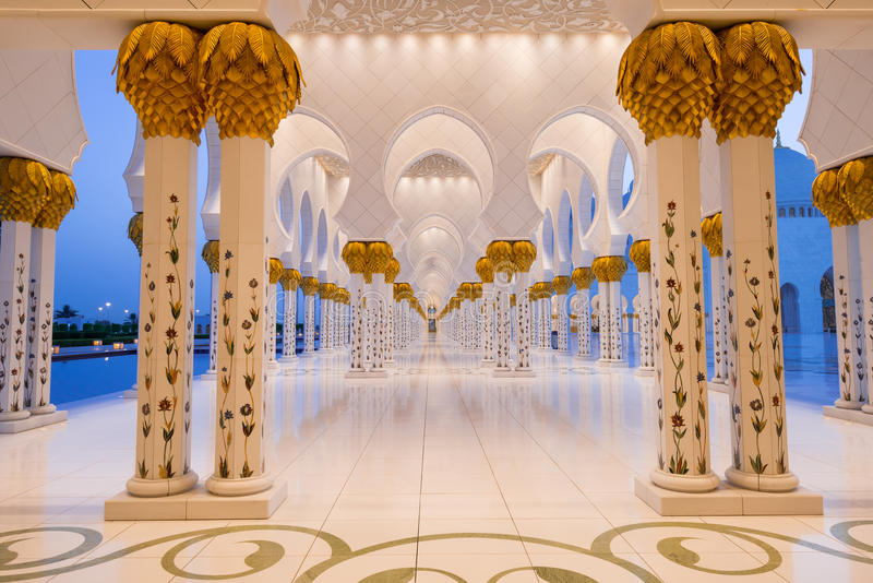 Download Sheikh Zayed Grand Mosque stock photo. Image of masjid - 37120590