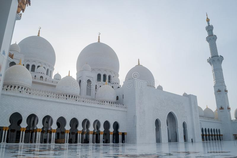 Sheikh Zayed Grand Mosque in Abu Dhabi, de hoofdstad van de V.A.E stock afbeelding