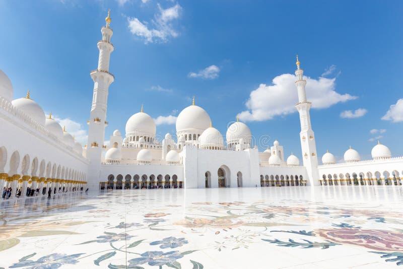 Sheikh Zayed Grand Mosque, Abu Dhabi, Emirats Arabes Unis image stock