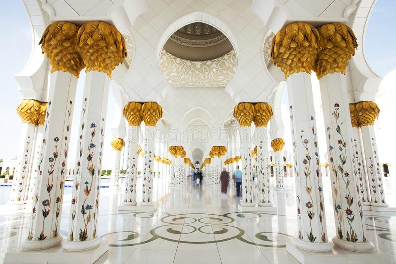 Sheikh Zayed Grand Mosque in Abu Dhabi Interior. Sheikh Zayed Grand Mosque in Abu Dhabi, UAE stock photos