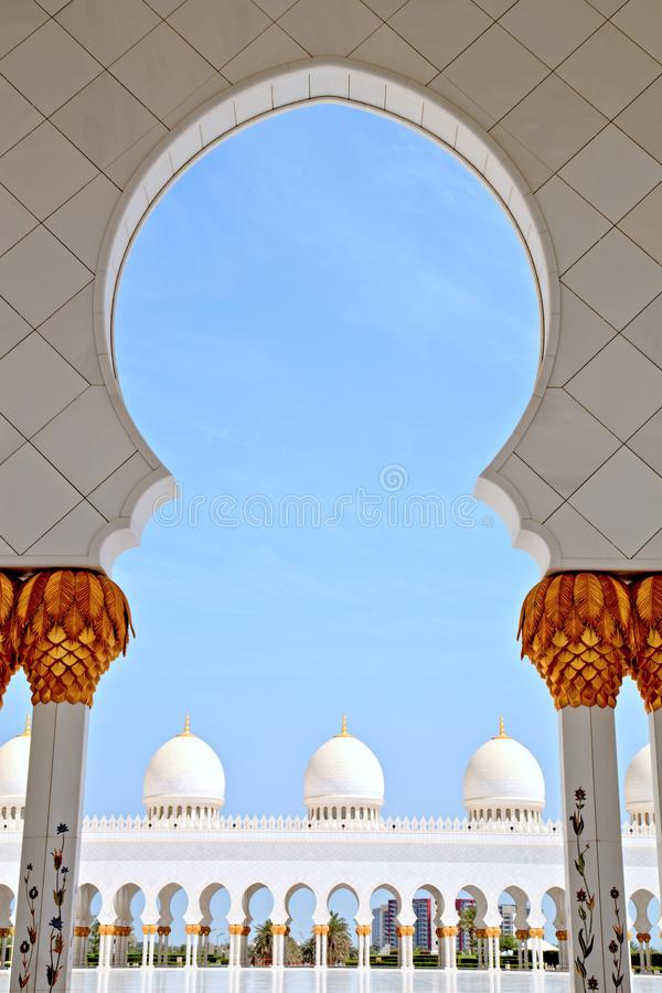 Sheikh Zayed Grand Mosque in Abu Dhabi Interior. Sheikh Zayed Grand Mosque in Abu Dhabi, UAE royalty free stock image