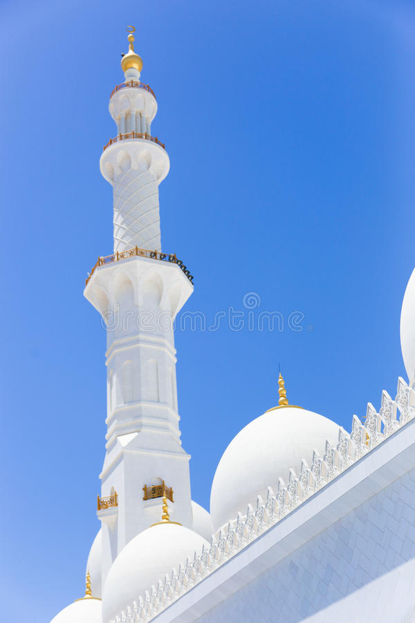 Sheikh Zayed Grand Mosque. In Abu Dhabi. It is the largest mosque in UAE and the eighth largest mosque in the world stock photography