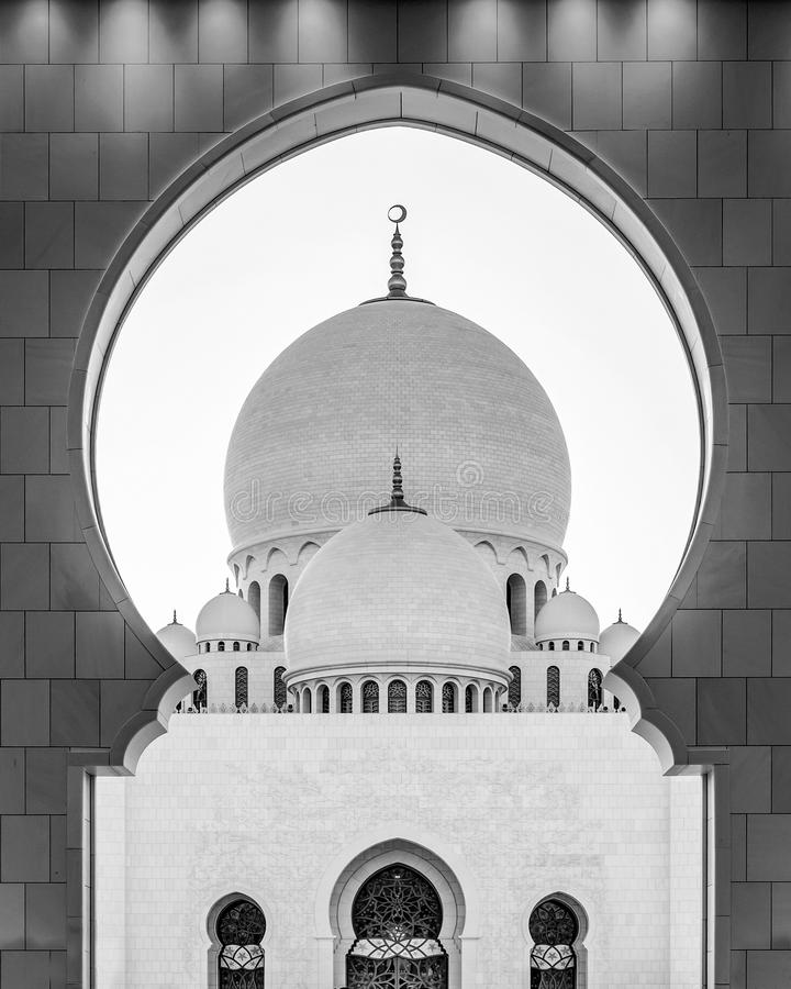 Sheikh Zayed Grand Mosque in Abu Dhabi near Dubai, UAE stock photos