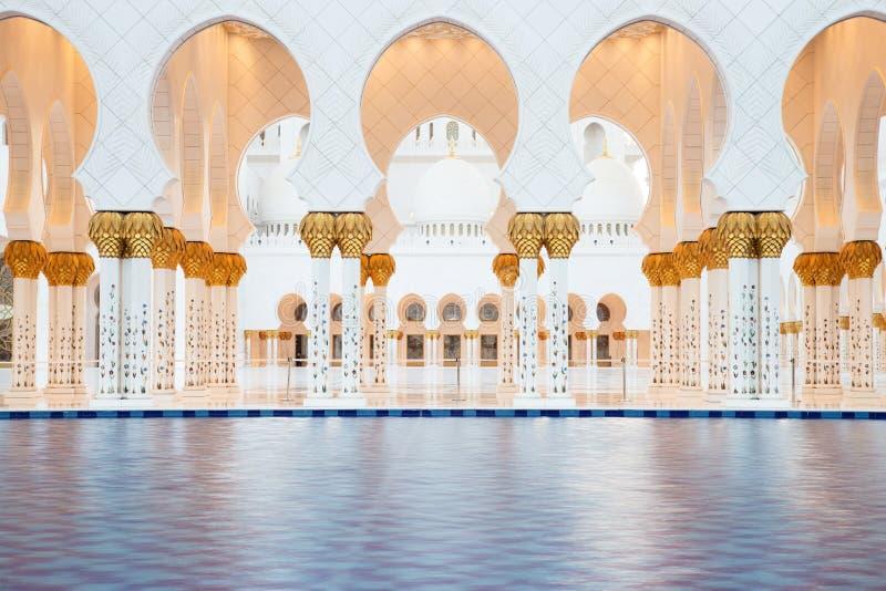 Sheikh Zayed Grand Mosque in Abu Dhabi. UAE royalty free stock photos