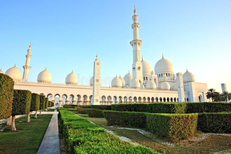 Sheikh Zayed Grand Mosque in Abu Dhabi. UAE royalty free stock image