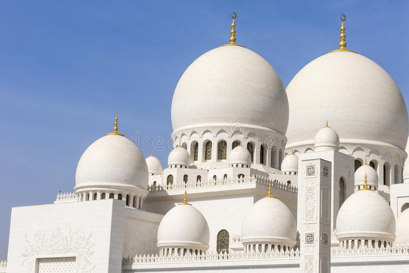 Sheikh Zayed Grand Mosque Abu Dhabi stock images