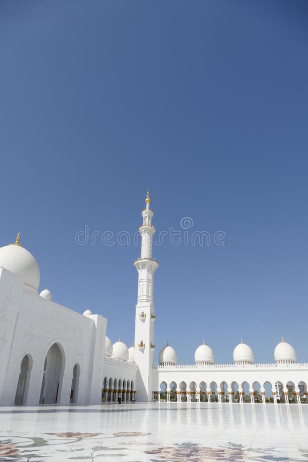 Sheikh Zayed Grand Mosque Abu Dhabi, U A e stockfotos